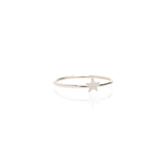 Zoë Chicco 14kt White Gold Itty Bitty Pave Star Ring