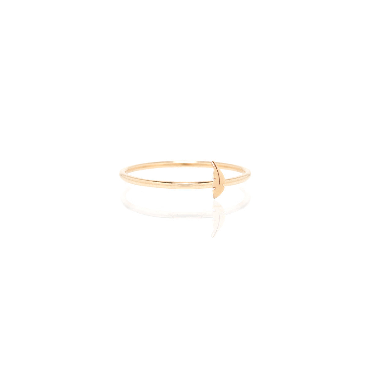 Zoë Chicco 14kt Yellow Gold Itty Bitty Feather Ring