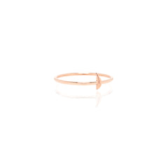 Zoë Chicco 14kt Rose Gold Itty Bitty Feather Ring