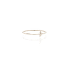 Zoë Chicco 14kt White Gold Itty Bitty Feather Ring