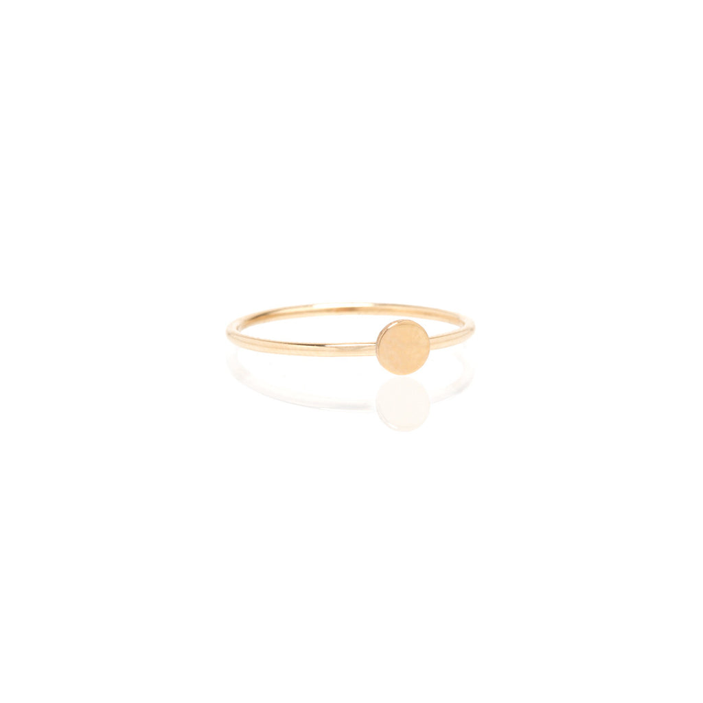 14k itty bitty disc ring