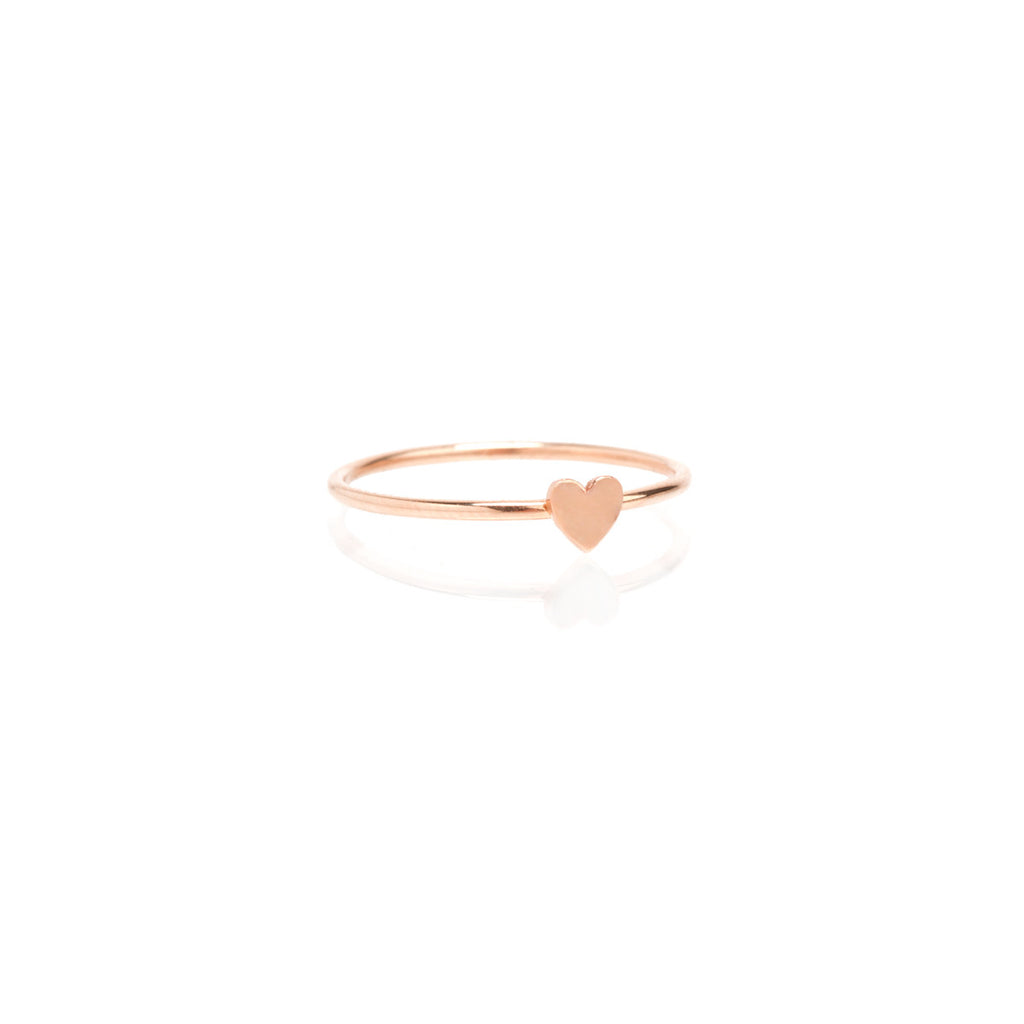Zoë Chicco 14kt Yellow Gold Itty Bitty Heart Ring