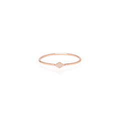Zoë Chicco 14kt Rose Gold Itty Bitty Pave Diamond Shape Ring