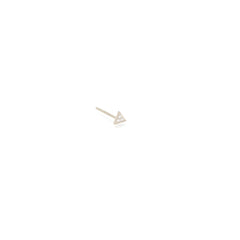 14k itty bitty pave diamond triangle stud