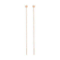 Zoë Chicco 14kt Rose Gold Itty Bitty Star Threader Earrings