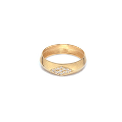 14k pave knife edge ring