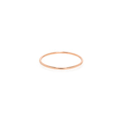 14k thin band ring