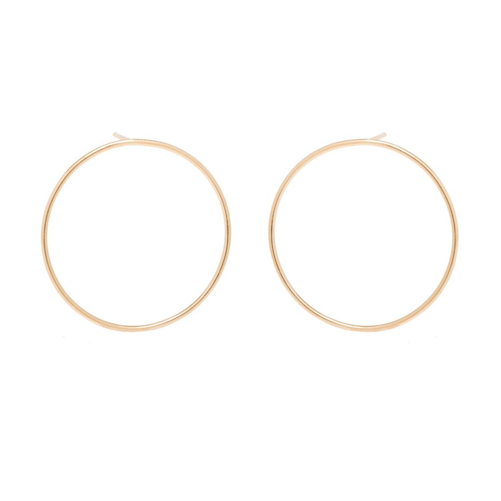Zoë Chicco 14kt Yellow Gold Large Front Facing Circle Hoop Earrings