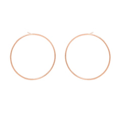 Zoë Chicco 14kt Rose Gold Large Front Facing Circle Hoop Earrings