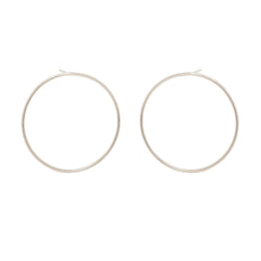 Zoë Chicco 14kt White Gold Large Front Facing Circle Hoop Earrings
