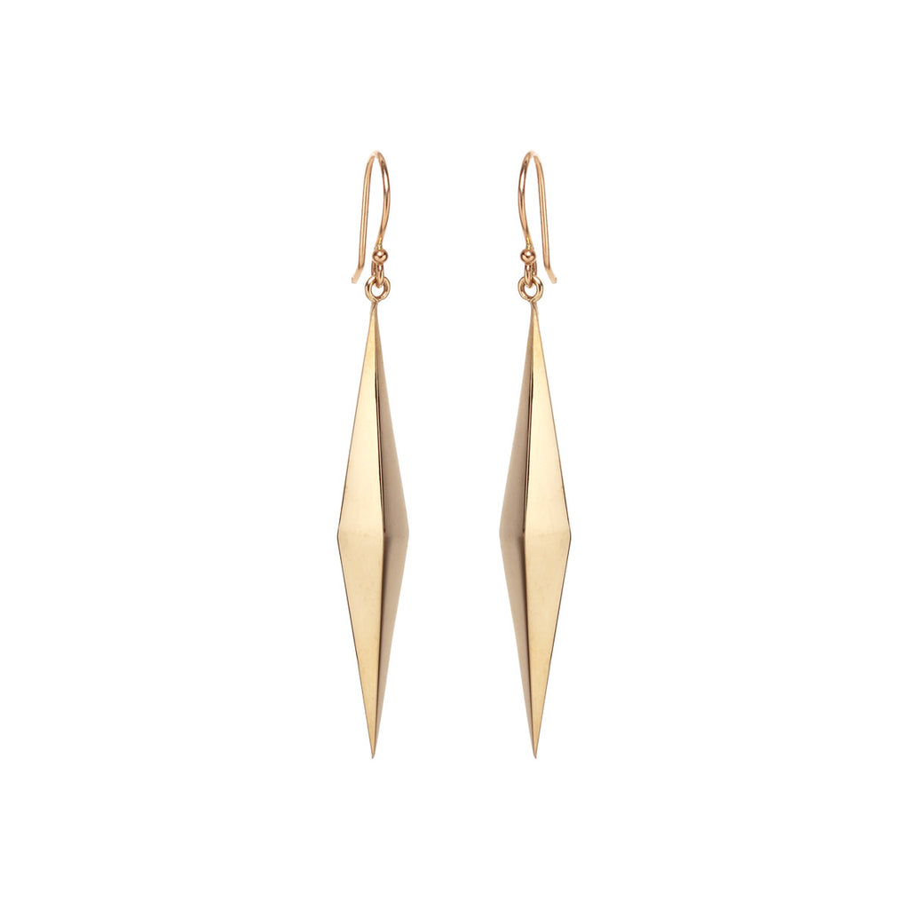 Zoë Chicco 14kt Yellow Gold Diamond Shaped Pyramid Earrings