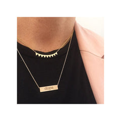 Zoë Chicco 14kt Gold Hashtag Necklace Layered