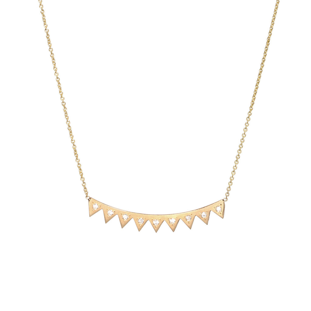 14k diamond eyelash necklace