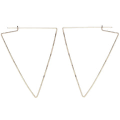 14k large hammered triangle hoops