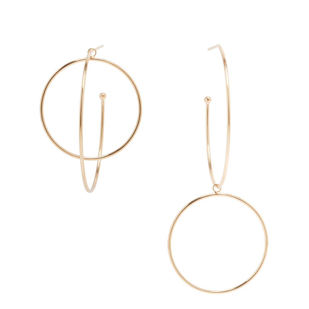 Zoë Chicco 14kt Yellow Gold Convertible Double Hoop Earrings
