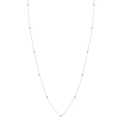 Zoë Chicco 14kt Yellow Gold Itty Bitty Round Disc Long Station Necklace