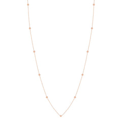 Zoë Chicco 14kt Rose Gold Itty Bitty Round Disc Long Station Necklace