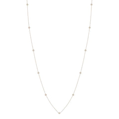 Zoë Chicco 14kt White Gold Itty Bitty Round Disc Long Station Necklace