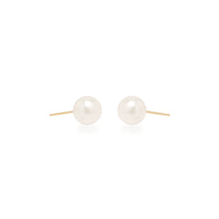 Zoë Chicco 14kt Yellow Gold Large Pearl Stud Earrings