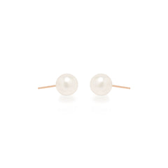 Zoë Chicco 14kt Rose Gold Large Pearl Stud Earrings