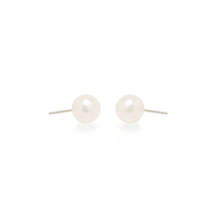 Zoë Chicco 14kt White Gold Large Pearl Stud Earrings