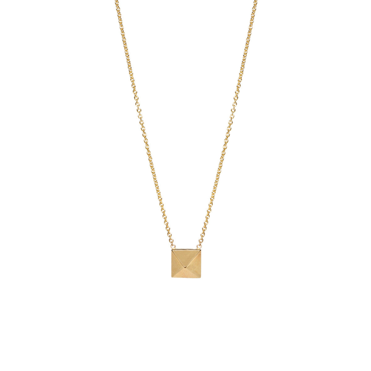 14k single spike necklace