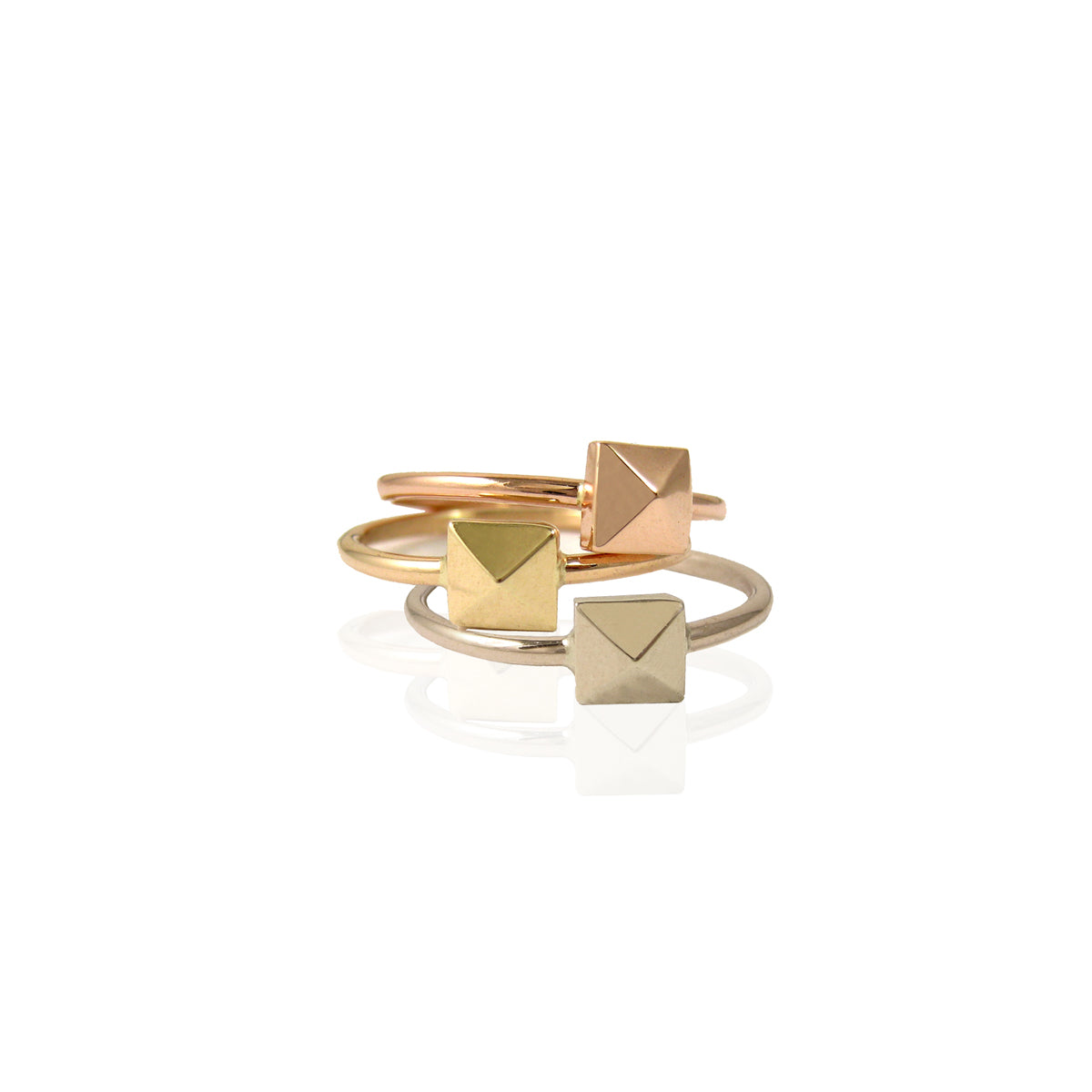 14k single spike ring