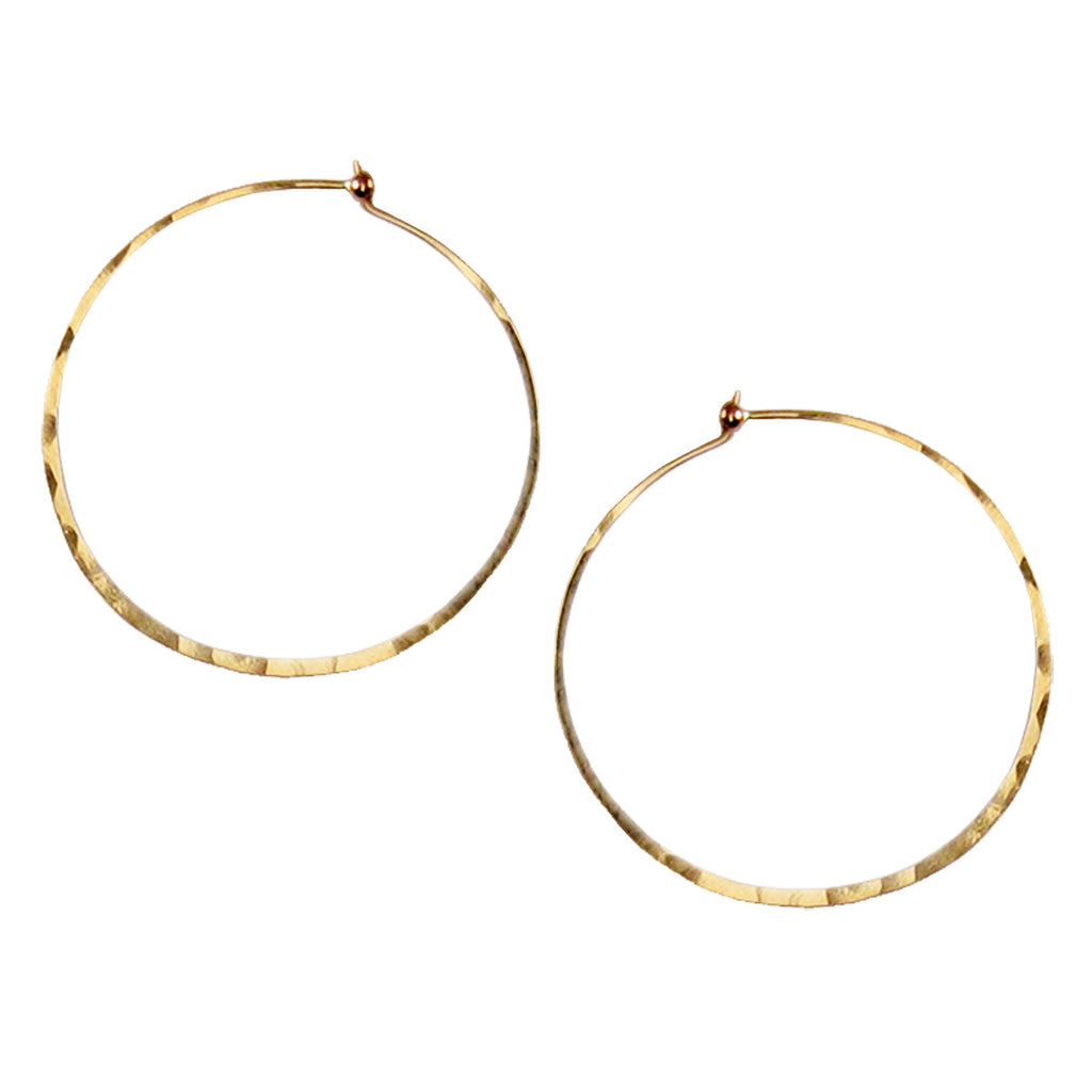 large thin hammered hoops