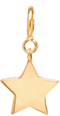 14k midi bitty star charm pendant with spring ring