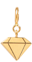 14k midi bitty faceted diamond charm pendant with spring ring