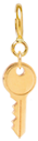 14k midi bitty key charm pendant with spring ring