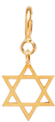 14k midi bitty Star of David charm with spring ring