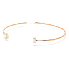 Zoë Chicco 14kt Yellow Gold White Baguette Diamond Cuff Bracelet