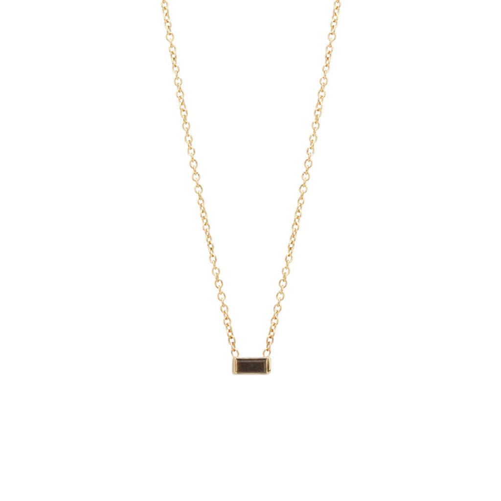 Zoë Chicco 14kt Yellow Gold Black Diamond Baguette Necklace