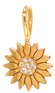 14k midi bitty diamond flower charm pendant