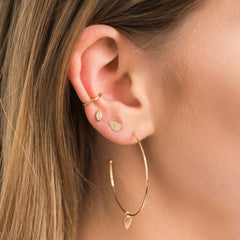 14k thick plain ear cuff