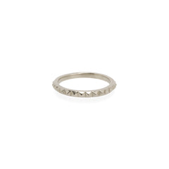14k tiny spikes eternity ring