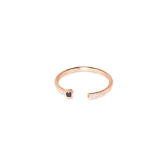 Zoë Chicco 14kt Rose Gold Black and White Mixed Open Ring