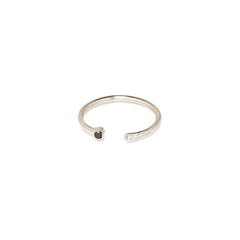 14k black & white mixed open ring