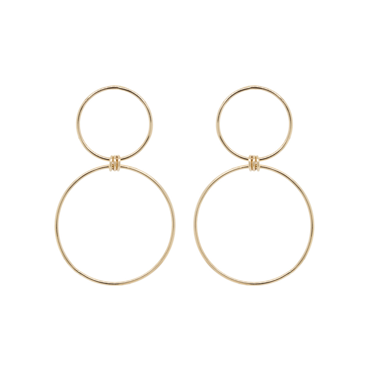 14k large mixed circle earrings