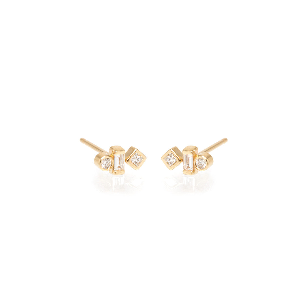 coin diamond earrings rosette cento drop web roberto small