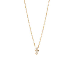 14k mixed diamond necklace
