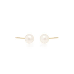 14k medium pearl studs | JUNE BIRTHSTONE