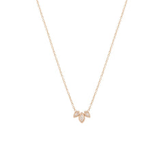 14k marquis diamond fan necklace