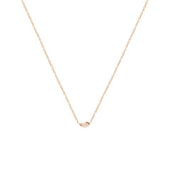 Zoë Chicco 14kt Rose Gold Horizontal Marquis Diamond Necklace