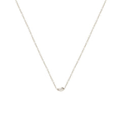 Zoë Chicco 14kt White Gold Horizontal Marquis Diamond Necklace