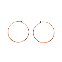 medium thin hammered hoops