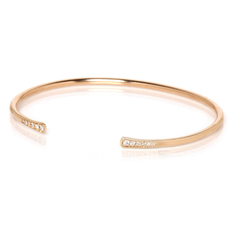 Zoë Chicco 14kt Yellow Gold Hammered Open Cuff Bracelet