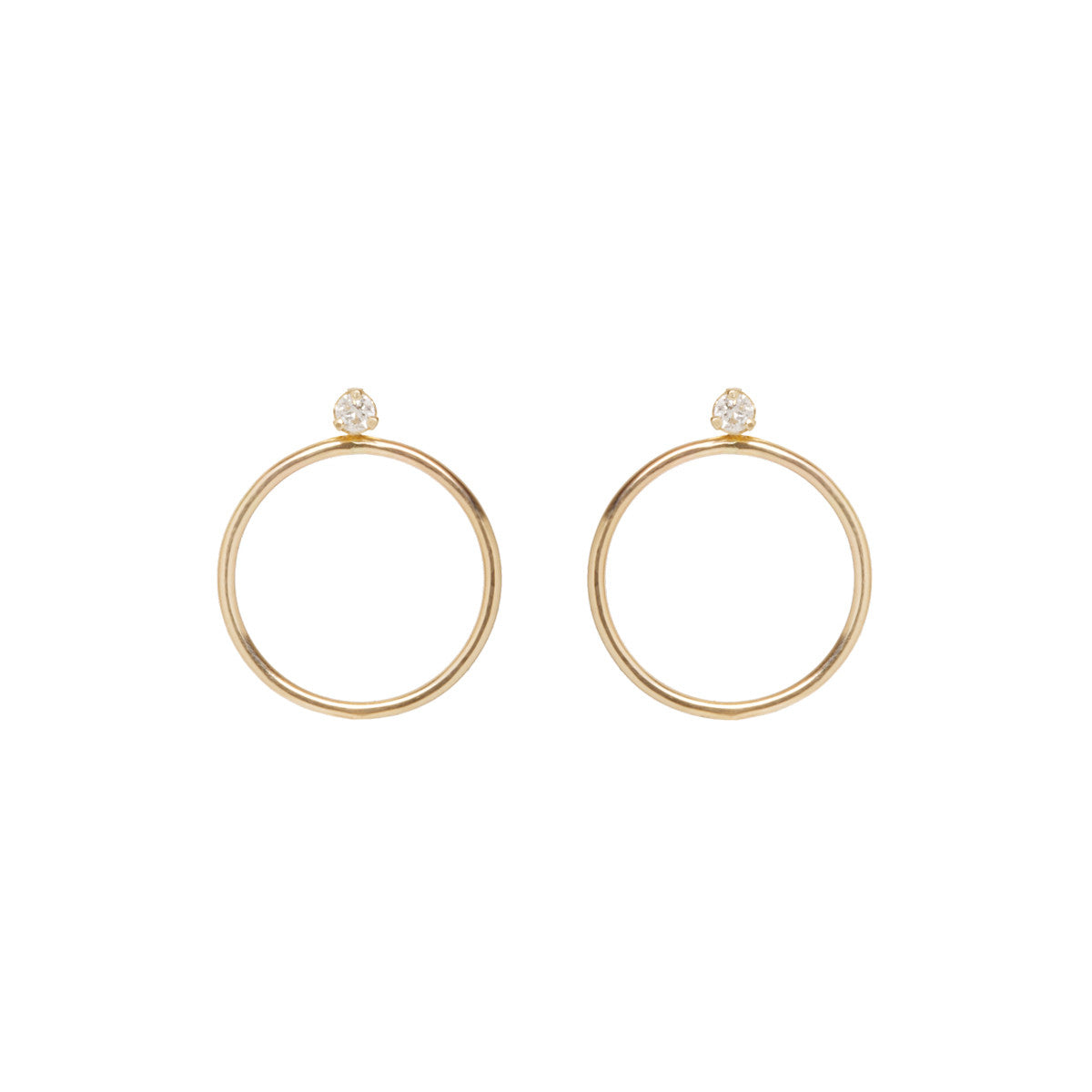 gold with stud circle by bezels modern dana shop bronfman diamond shaped in accent open earring diamonds yellow earrings silhouette category organically black