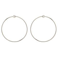 14k princess diamond front facing circle hoops